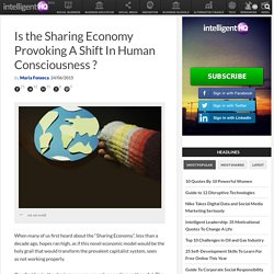 Is the Sharing Economy Provoking A Shift In Human Consciousness ?