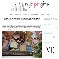 PR Girl PRowess: Handling Event Day