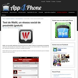 Test de Wallit, un réseau social de proximité (gratuit)