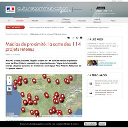 Médias de proximité : la carte des 114 projets retenus