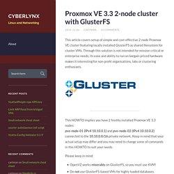 Proxmox VE 3.3 2-node cluster with GlusterFS