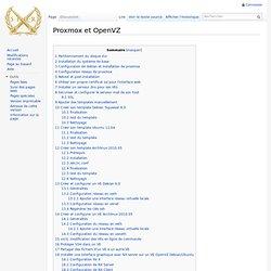 Proxmox et OpenVZ - Linux Server Wiki