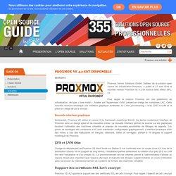 Proxmox VE 4.2 est disponible