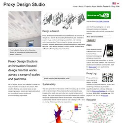 Proxy, Architectural Design and Software Development