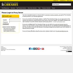 Proxy Login - The University of Iowa Libraries