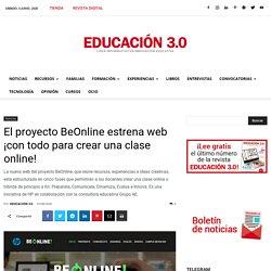 El proyecto BeOnline estrena web ¡con todo para crear una clase online!