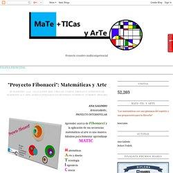 """MaTe+TICas y ArTe: """"Proyecto Fibonacci"""": Matemáticas y Arte"""