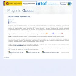Proyecto Gauss - Índice