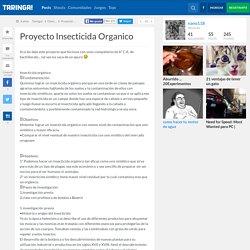 Proyecto Insecticida Organico