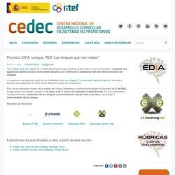 """Proyecto EDIA. Lengua. REA """"Las lenguas que nos rodean"""""""