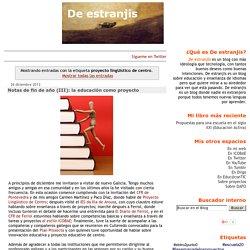 De estranjis: proyecto lingüístico de centro
