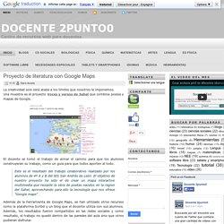 Proyecto de literatura con Google Maps