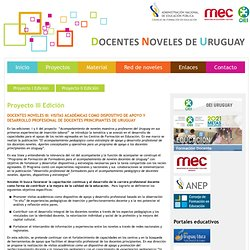 Proyecto - Proyecto Noveles Docentes