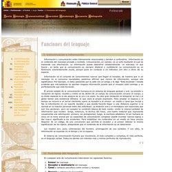 Proyecto Cíceros > Zona Profesores > 2° E.S.O. > Jauja > Teoría > I. Funciones del lenguaje