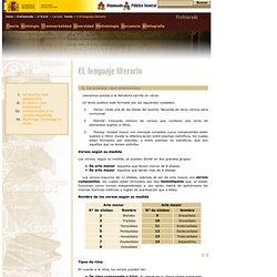 Proyecto Cíceros > Zona Profesores > 1° E.S.O. > Camelot > Teoría > V. El lenguaje literario