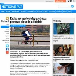 Radican proyecto de ley que busca promover el uso de la bicicleta