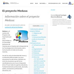 El proyecto Medusa – Área de Tecnología Educativa