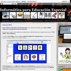 Informática para Educación Especial: Proyecto TICO
