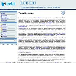 Proyecto LEETHI > Transliteraturas