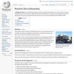 Proyecto Zero (educación)