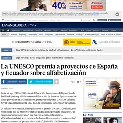 La UNESCO premia a proyectos de España y Ecuador sobre alfabetización