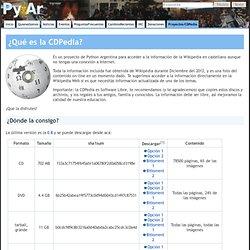 Proyecto CDPedia - Wikipedia OffLine - Python Argentina