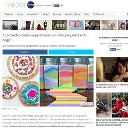 15 proyectos creativos para hacer con niños pequeños en tu hogar