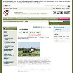 PRPSANTE BELGIQUE - 2010 - Programme de Réduction des Pesticides et des Biocides (PRPB)B