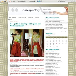 Free pattern sewing : obi apron par Prudence Rabbit