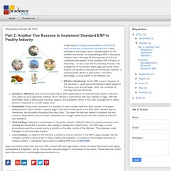 Part 2- Another Five Reasons to Implement Standard ERP in Poultry Industry