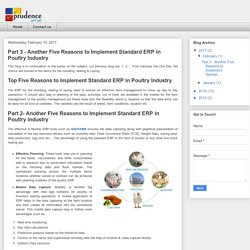 Another Five Reasons to Implement Standard ERP in Poultry Industry