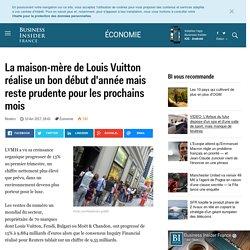 La maison-mère de Louis Vuitton réalise un bon début d'année mais reste prudente pour les prochains mois - Business Insider France