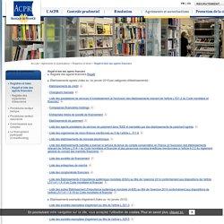 Autorité de contrôle prudentiel et de résolution: Regafi et liste des agents financiers