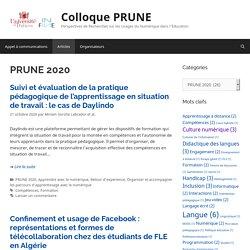 PRUNE 2020 – Colloque PRUNE