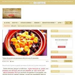 Tajine de poulet aux pruneaux abricots secs & amandes