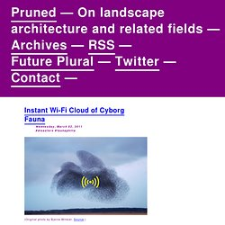 Instant Wi-Fi Cloud of Cyborg Fauna