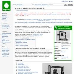 Prusa i3 Rework Introduction/fr