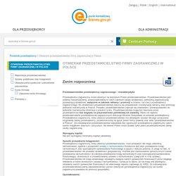 Otwieram przedstawicielstwo firmy zagranicznej w Polsce