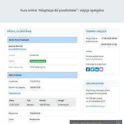 """Kurs online """"Adaptacja do przedszkola"""" - edycja specjalna"""