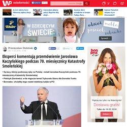 Eksperci komentują przemówienie Jarosława Kaczyńskiego podczas 70. miesięcznicy Katastrofy Smoleńskiej