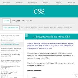 Przygotowanie plików HTML i CSS do kursu CSS