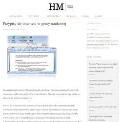 Przypisy do internetu w pracy naukowej