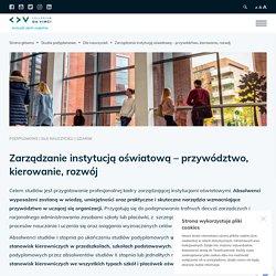 Zarządzanie instytucją oświatową - przywództwo, kierowanie, rozwój - Gdańsk
