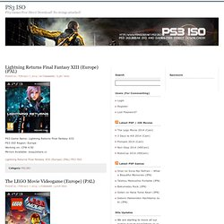 PS3 ISO - PS3 Games ISO Jailbreak Downloads