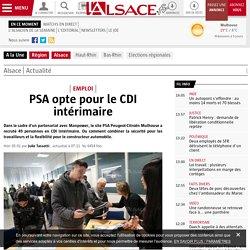 PSA opte pour le CDI intérimaire