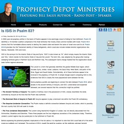 Is ISIS in Psalm 83? - Prophecy Depot Ministries