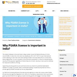 Why PSARA license is important in India?
