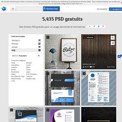 PSD gratuits, plus de +5,400 fichiers PSD gratuits
