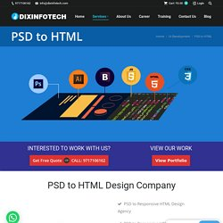 Best PSD to HTMl Convert Services.
