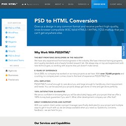PSD to HTML Conversion – PSD2HTML®